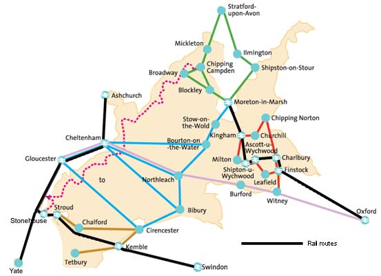Cotswolds One Day Discoverer route map